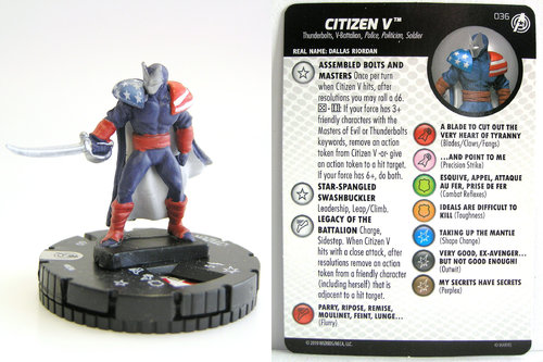 HeroClix - #036 Citizen V - Captain America and the Avengers