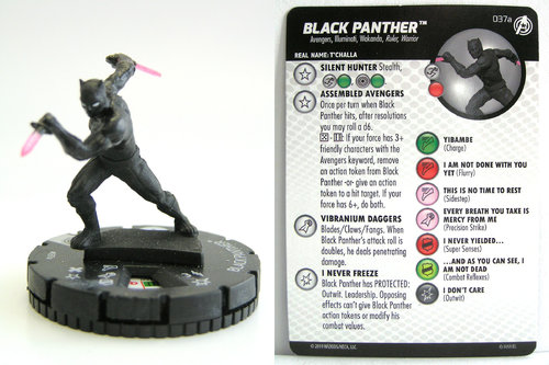 HeroClix - #037a Black Panther - Captain America and the Avengers