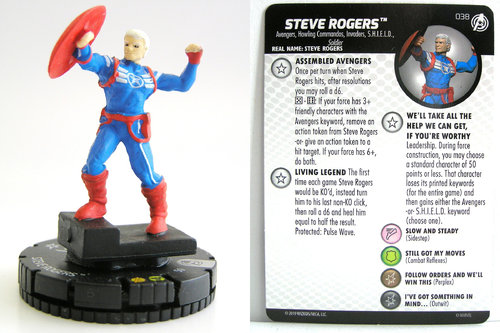 HeroClix - #038 Steve Rogers - Captain America and the Avengers