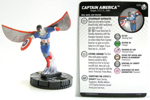 HeroClix - #039 Captain America - Captain America and the Avengers