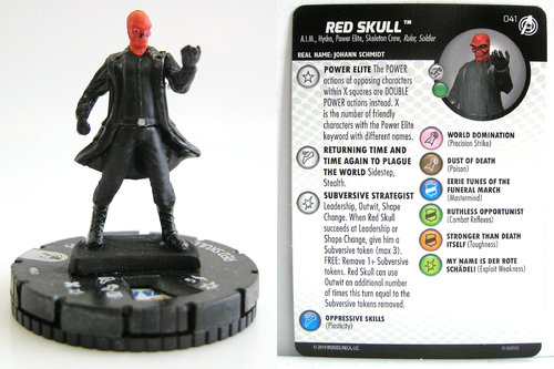 HeroClix - #041 Red Skull - Captain America and the Avengers