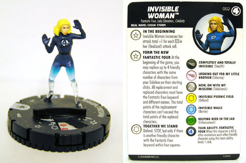 HeroClix - #002 Invisible Woman - Fantastic Four