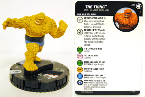 HeroClix - #004 The Thing - Fantastic Four