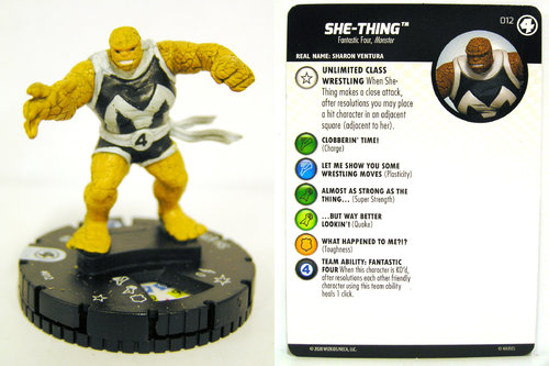 HeroClix - #012 She-Thing - Fantastic Four