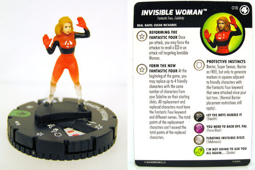 HeroClix - #018 Invisible Woman - Fantastic Four
