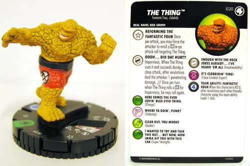 HeroClix - #020 The Thing - Fantastic Four