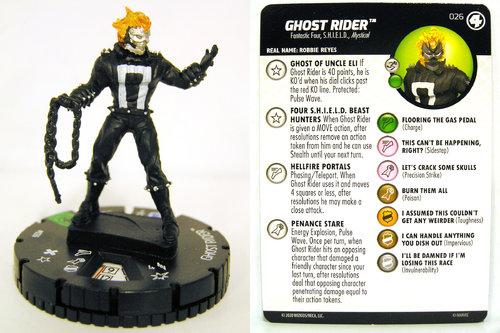 HeroClix - #026 Ghost Rider - Fantastic Four
