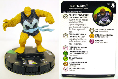HeroClix - #028 She-Thing - Fantastic Four