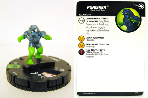 HeroClix - #031a Punisher - Fantastic Four