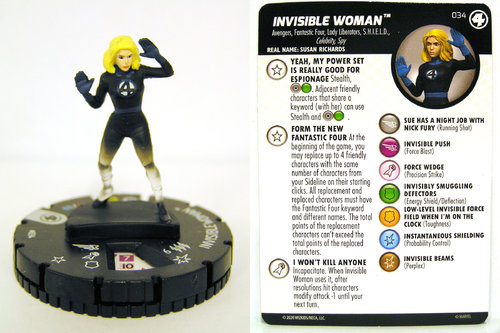 HeroClix - #034 Invisible Woman - Fantastic Four