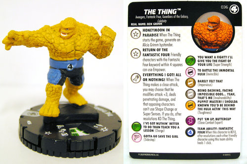 HeroClix - #036 The Thing - Fantastic Four