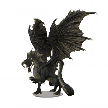 WZK96021 D&D Icons of the Realms: Adult Black Dragon Premium Figure